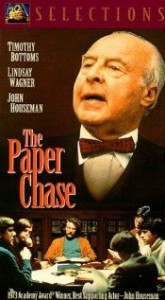 "The movie ""The Paper Chase"" featured a hard-nosed Harvard law professor versus a practical, legitimate study group of his students."