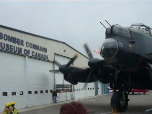 Lancaster in front of Bomber Command Museum of Canada in Nanton, Alberta.
