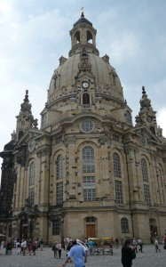 The restored Frauenkirche church in Dresden in August 2010.