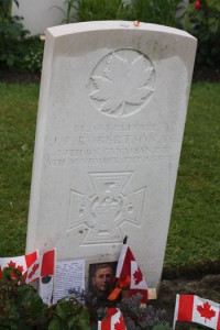 Grave of J. Robertson, VC, at Farm.