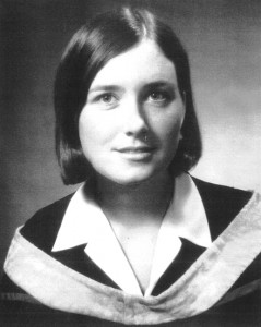 Susan Sparks (now Hall) at the time of her graduation from University of Western Ontario in 1967.