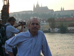 Tour leader Ted Barris during a scouting trip through Prague, Czech Republic, in August 2010.