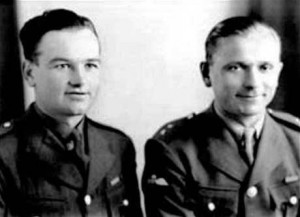 Czech-born commandos Jan Kubic and Jozef Gabcik trained in Britain for the daring assassination of Reinhard Heydrich in May 1942.