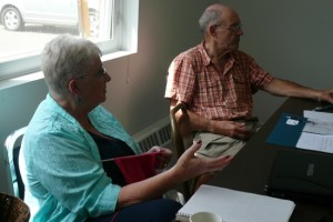 Jean Crozier, foreground, has a unique passage through widowhood to tell.