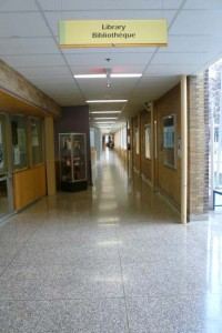 Hallways - empty all summer - began to fill this week with students back to school.