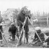 Dominion Land Survey working at the turn of the 19th Century in Alberta.