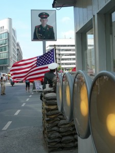 Today a tourist trap, Checkpoint Charlie between 1961 and 1989 trapped East Berliners inside the Iron Curtain.