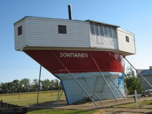 The mystery ship of prairie pioneer Tom Sukanen dominates the landscape just outside Moose Jaw, Sask.
