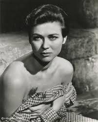 "Gia Scala, at the moment her untrue story of torture is revealed in ""The Guns of Navarone."""