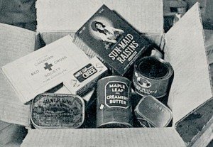 "Red Cross parcels came to the officers about once or twice a month. Most called their contents ""life-savers."""