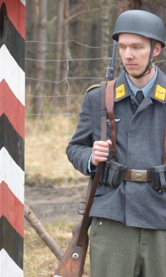 Re-enactors at Stalag Luft III provided frighteningly real portrayals of 70 years ago.