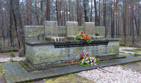 Memorial to the 50 at Stalag Luft III POW compound