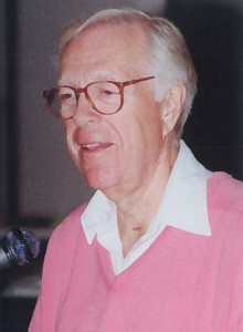 Knowlton Nash addressed journalism and broadcasting students at Centennial in 2001.