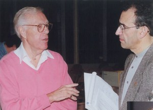 Knowlton Nash and Barris at Centennial in 2001.