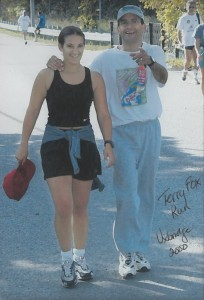 In the year 2000, I joined my daughter on the annual Terry Fox Run.