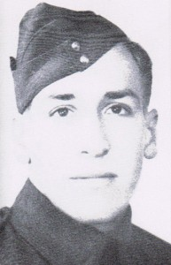 Fred Barnard as a young QOR soldier.