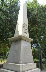 Monument marks the spot where Confederate Gen. J.E.B. Stuart was shot.