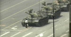 Anti-tank demonstrator in Tiananmen Square, June 5, 1989.