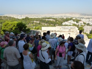 Tourists by the millions have worn the marble path atop the Acropolis to nothing.