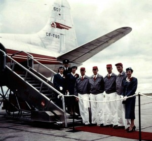 1950s Trans-Canada Airlines crew... when service in the air meant something.