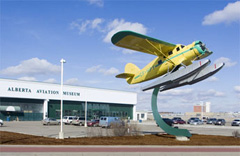 Alberta Aviation Museum at Edmonton's former Blatchford airfield.