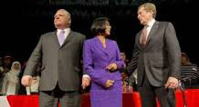 Toronto mayoral candidates (l-r) Doug Ford, Olivia Chow and John Tory.