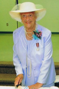 The unsinkable Rodine Egan at her 90th birthday party in 2013.