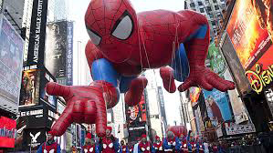Macy's Thanksgiving Day Parade lasted three hours and featured all manner of superhero, including Spiderman.