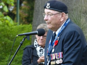 Never short for words, on Dutch Remembrance Day (May 4) Harry Watts addressed citizens of Baarn, the Netherlands.