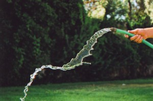 Hosing water around at the worst of times.