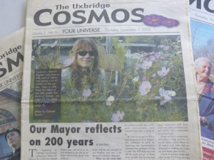 Uxbridge Cosmos, first edition, Thursday, Sept. 1, 2005.