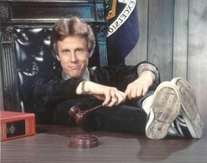 "Harry Anderson as Judge Harry T. Stone on ""Night Court."" WMUR TV"
