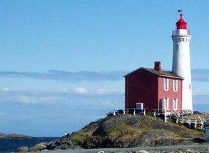 Pacific Canada's first lighthouse - Fisgard - near Esquimalt, B.C.