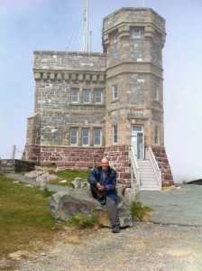 At Signal Hill, near St. John's, in 2014 during The Writers' Union of Canada AGM.