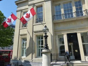 Canada House on Trafalgar Square - June 2016.
