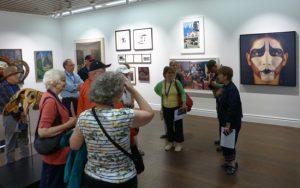 Canada House representative, Brigitte Duchesne guides our group through the Canada Gallery.