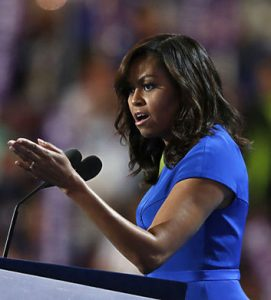Michelle Obama illustrated the importance of not giving up. csmonitor.com.