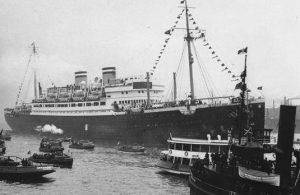 The liner St. Louis, loaded with Jewish refugees, was refused entry to Canada in 1939.