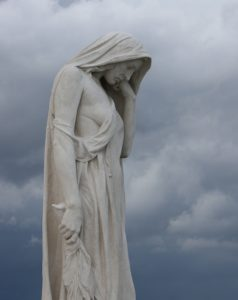 Mother Canada sculpture at Vimy Memorial.