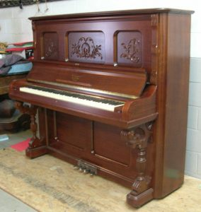 Upright pianos, such as this one, often get relegated to back walls, basements or worse...