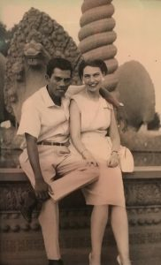 Jean Portugal and husband Felix c1962 in Vietnam.